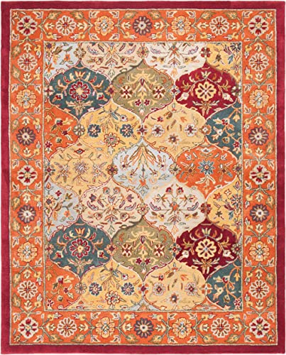 Safavieh Heritage Collection HG510B Handcrafted Traditional Oriental Multi and Red Wool Area Rug 2 x 3