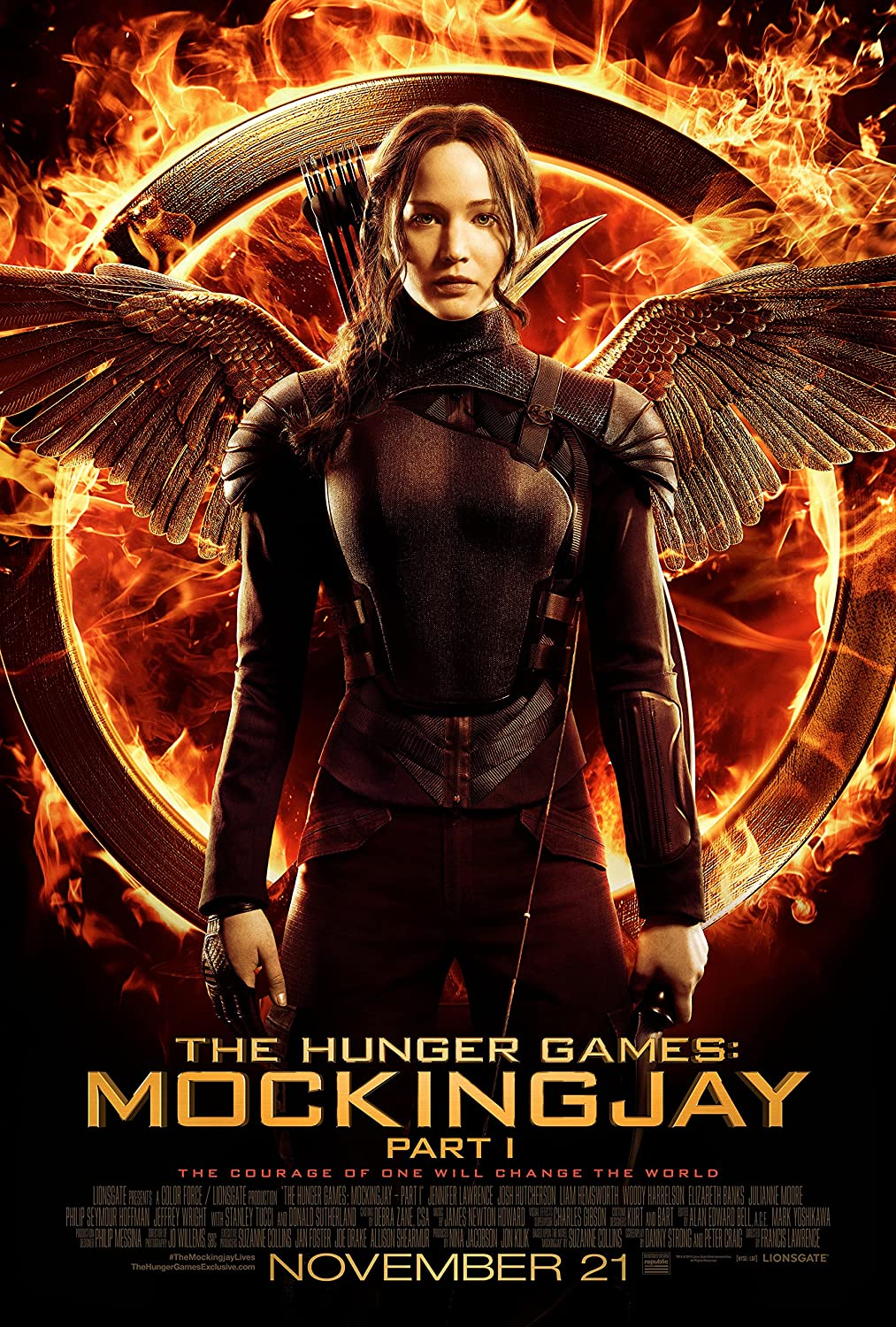 The Hunger Games: Mockingjay Part 1 -Movie Poster, 24 x 36 Inches - Glossy Photo Paper (Thick 8 Mil) - Jennifer Lawrence, Josh Hutcherson, Liam Hemsworth