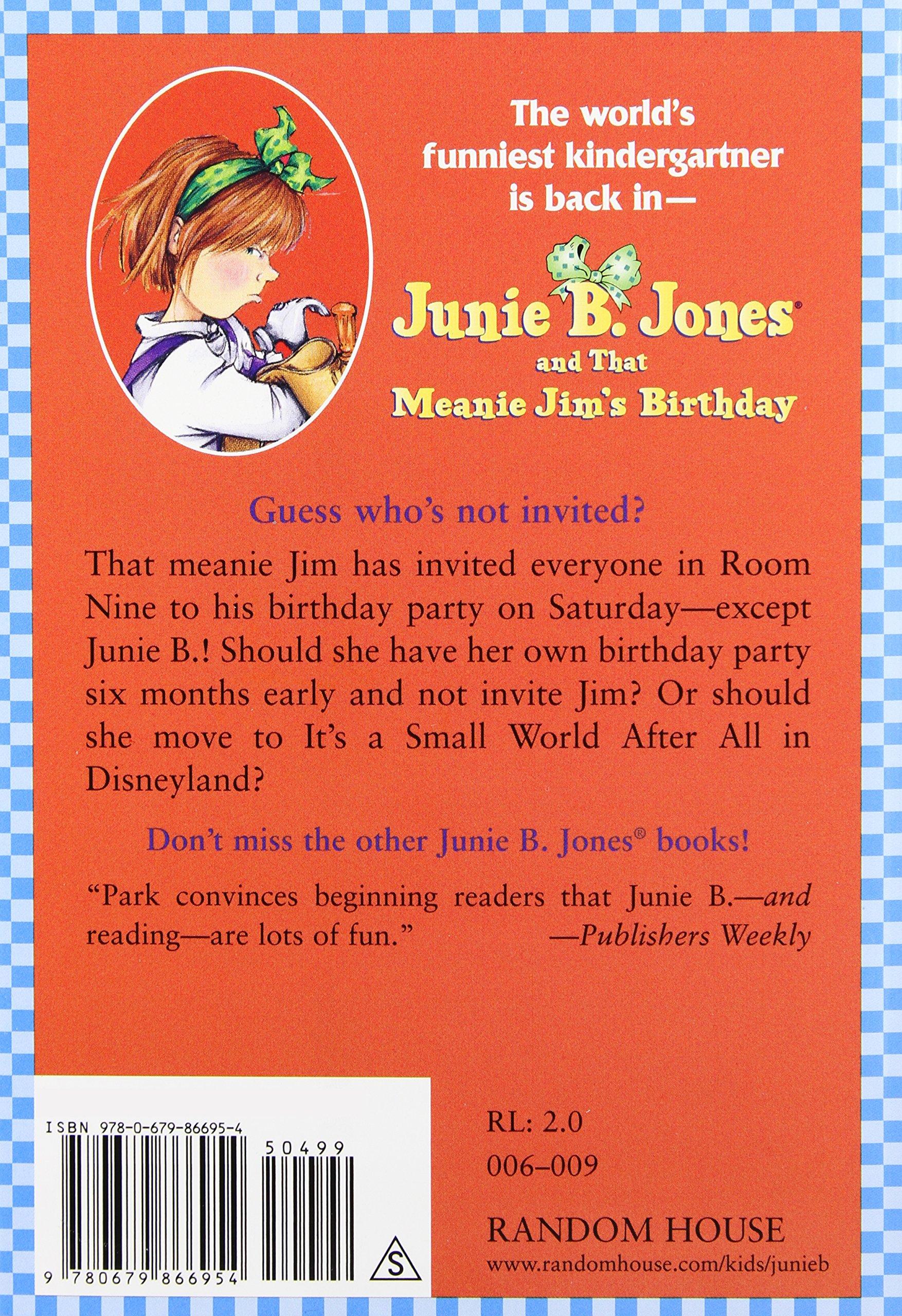 amazon com junie b jones and that meanie jim u0027s birthday junie b