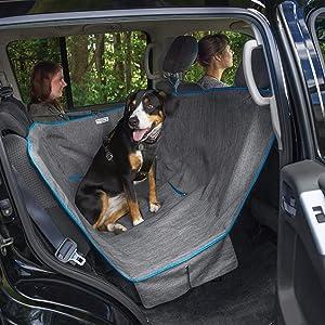 Kurgo Dog Hammock Car Seat Cover for Pets | Pet Seat Cover | Car Hammocks for Dogs | Water-Resistant | Wander | Heather | Journey | Half | Coast to Coast | Cars, Trucks, SUVs | Black | Grey | Khaki