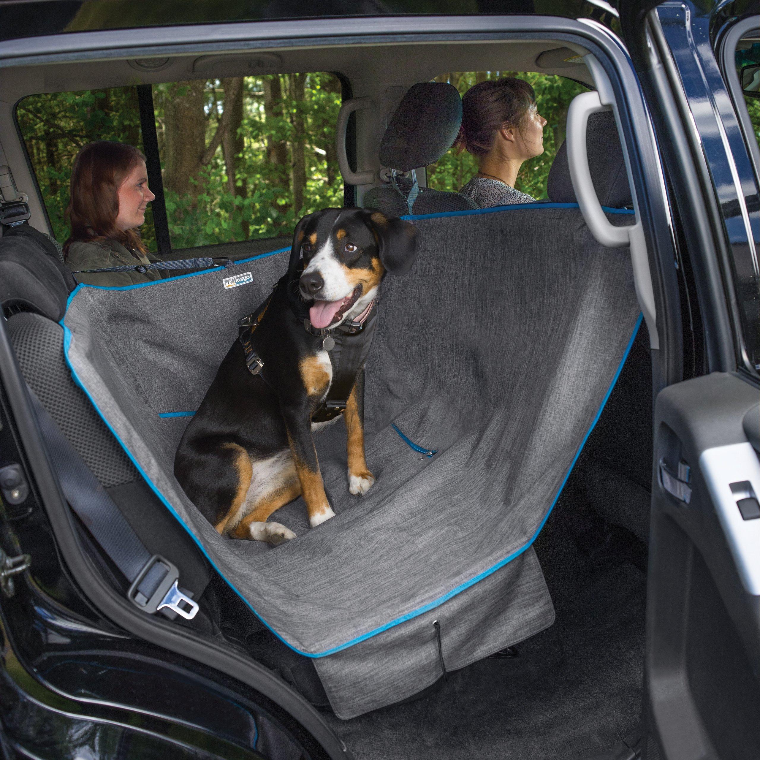 Kurgo Wander Dog Hammock Style Seat Cover for Pets, Pet Seat Cover, Dog Car Hammock - Water-Resistant, Khaki by Kurgo