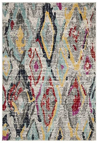 Safavieh Rug, 6 x 9 , Light Grey Red