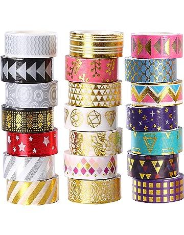 Masquage Bande Collection D/écoratif Papier Adh/ésif Inscriptible du Bandes D/écoratives Large Multi-Motif Adh/ésif Ruban