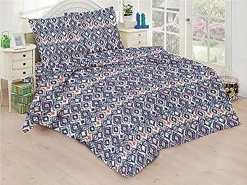 Bettwäsche Set 4 Tlg Baumwolle Renforcé Reißverschluss 135x200 Cm