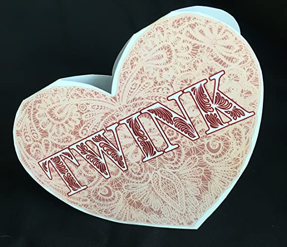 Amazon twink heart shaped card funny sexy handmade valentine twink heart shaped card funny sexy handmade valentine greeting card m4hsunfo
