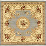 Unique Loom Versailles Collection Traditional Classic Light Blue Square Rug (8' x 8')