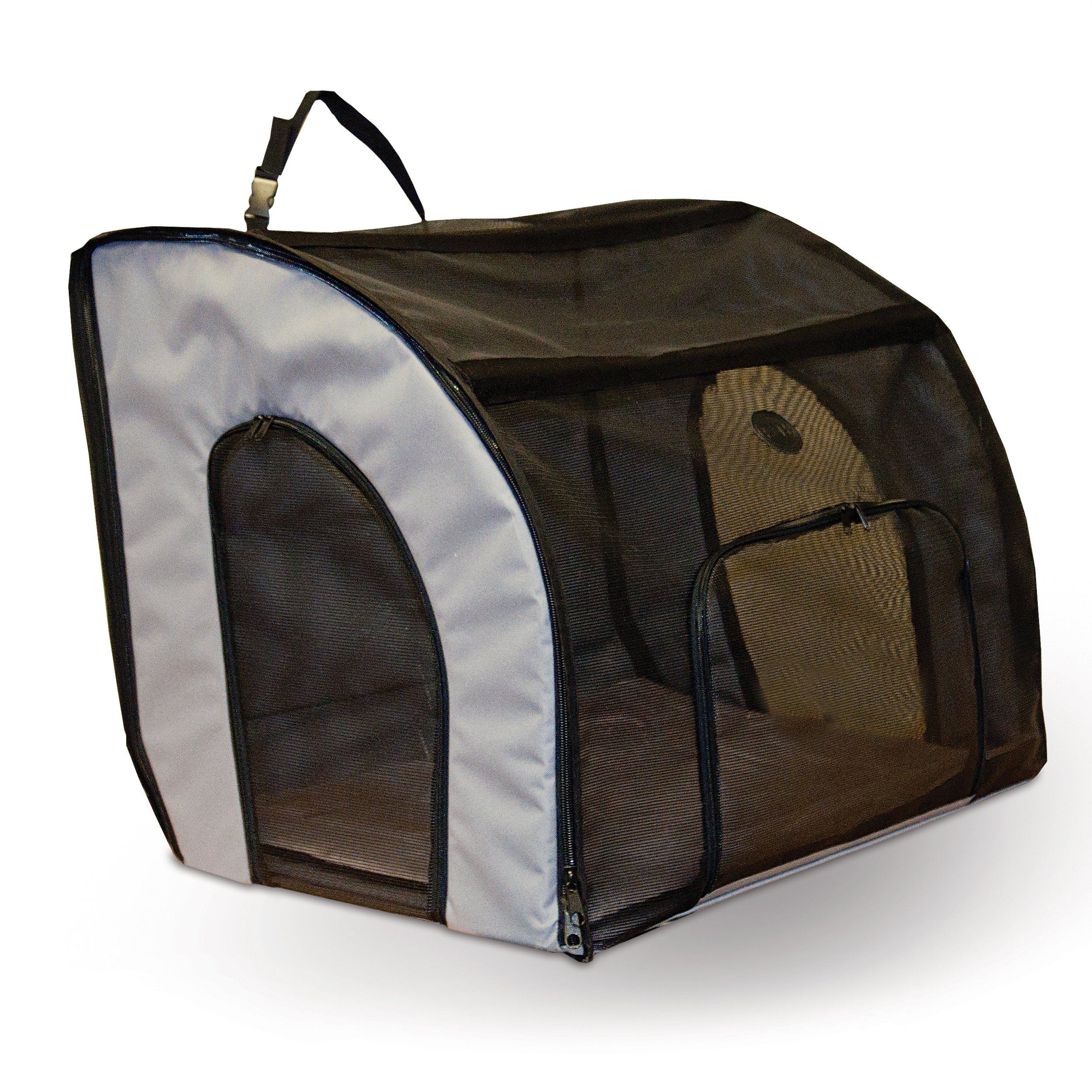 K&H Pet Products Travel Safety Pet Carrier Large Gray 29.5'' x 22'' x 25.5''