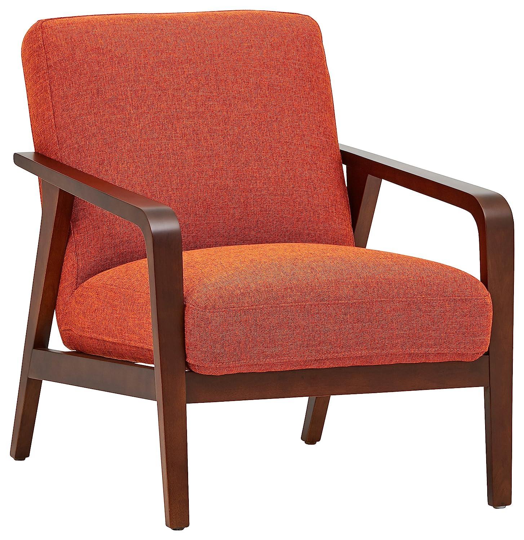 Amazon com rivet huxley mid century accent chair burnt orange kitchen dining