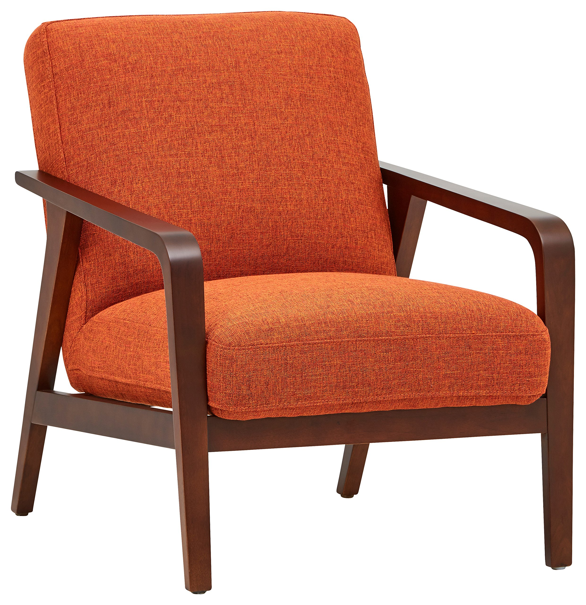 Rivet Huxley Mid-Century Accent Chair, Burnt Orange