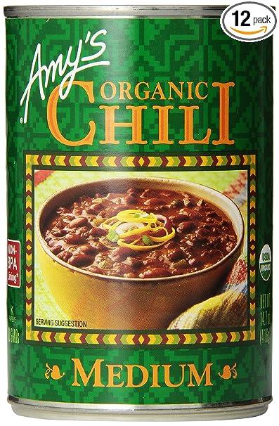 Amy's Organic Medium Chili, Vegan, 14.7-Ounce (pack of 12)