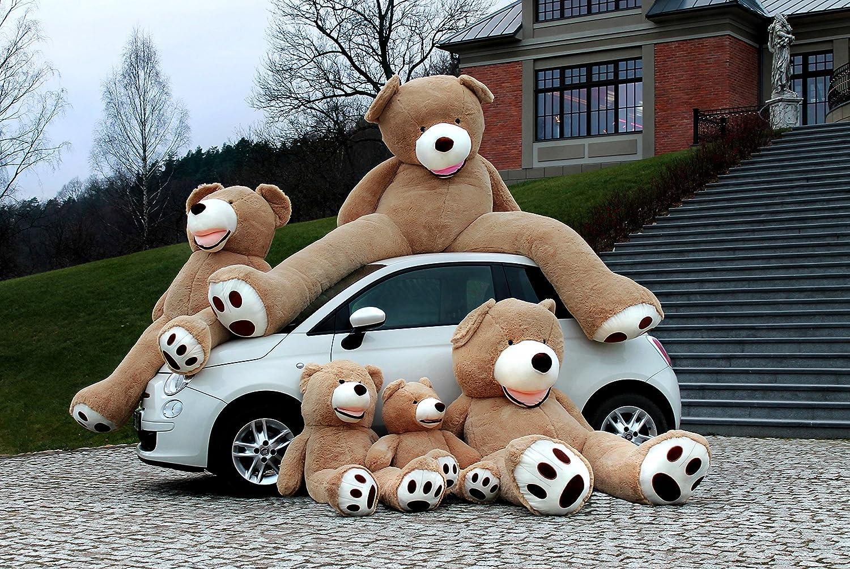 Oso Peluche Gigante 130 cm - Peluches Gigantes Osos - Peluches Para Bebes - Giant Teddy Bear - Osos de Peluche Gigantes - Regalos Para Mi Novia, Regalos Originales Para Bebes Recien Nacidos - Marron