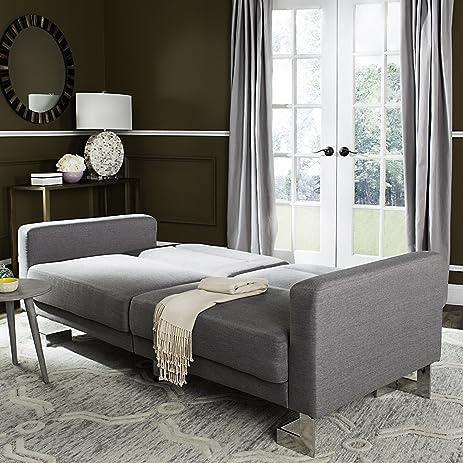 Safavieh Livingston Collection LVS2001B Tribeca Grey Foldable Sofa Bed