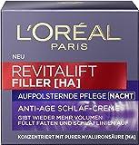 L'Oréal Paris 巴黎欧莱雅复颜玻尿酸水光充盈导入晚霜,2件装(2 X 50毫升)