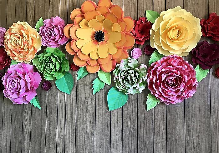 Amazon Com Paper Flower Backdrop Giant Paper Flowers Wall Paper