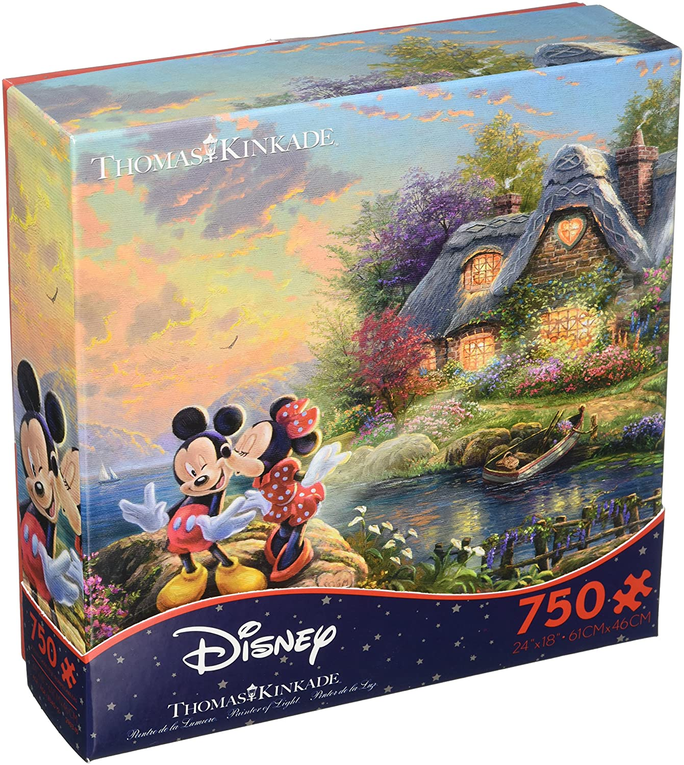 Thomas B079G4HXLC Pieces Kinkade Disney Mickey and Minnie Kissing Cottage in front of Cottage 750 Pieces B079G4HXLC, シングウマチ:a233e04e --- ero-shop-kupidon.ru