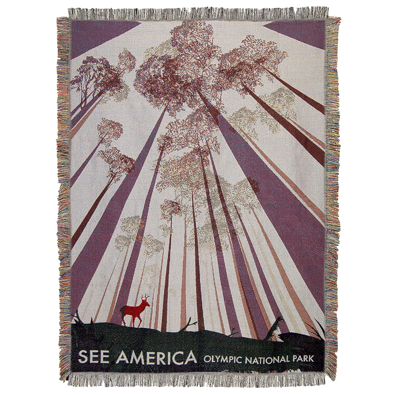 Multi Color The Northwest Company See America 48 x 60 Cuyahoga Valley National Park Woven Tapestry Throw Blanket