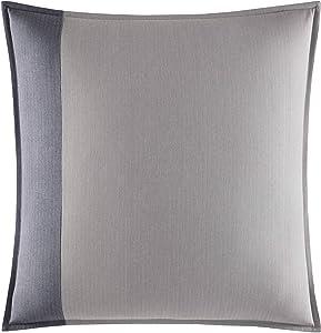 "Nautica Home | Fairwater Collection | 100% Cotton Mediterranean Inspired Design Herringbone Weave Decorative European Sham, Hidden Zipper Closure, 26"" x 26"", Blue"