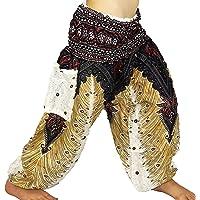 Sarouel - Pantalón para niño de 3 a 4 años, diseño étnico de Harem con pant children aladin, bohemio, niño, blanco y…
