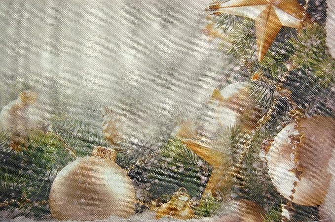 Tischläufer 40x90 Weihnachten Advent Weihnachtskugeln Schneesterne