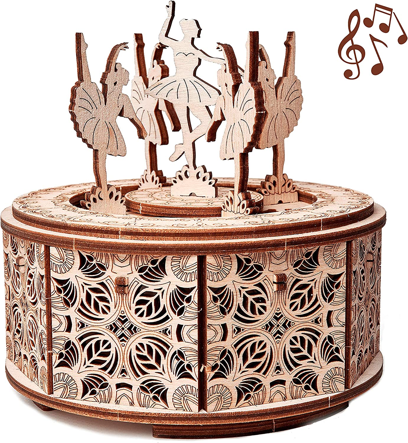 Wood Trick Dancing Ballerina Music Box Kit Swan Lake Diy Wooden Musical Box Ballerina 3d Wooden Puzzle Assembly Toy Brain Teaser For Adults And Kids Toys Games