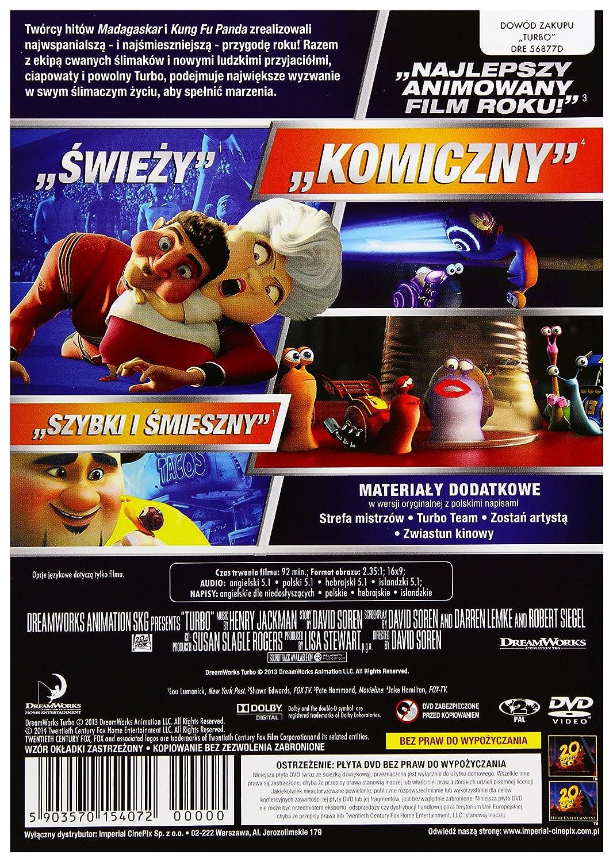 Amazon.com: Turbo [DVD] (English audio): Ryan Reynolds, Paul Giamatti, Michael Peńa, Samuel L. Jackson, Luis Guzmån, Bill Hader, Snoop Dogg, Maya Rudolph, ...