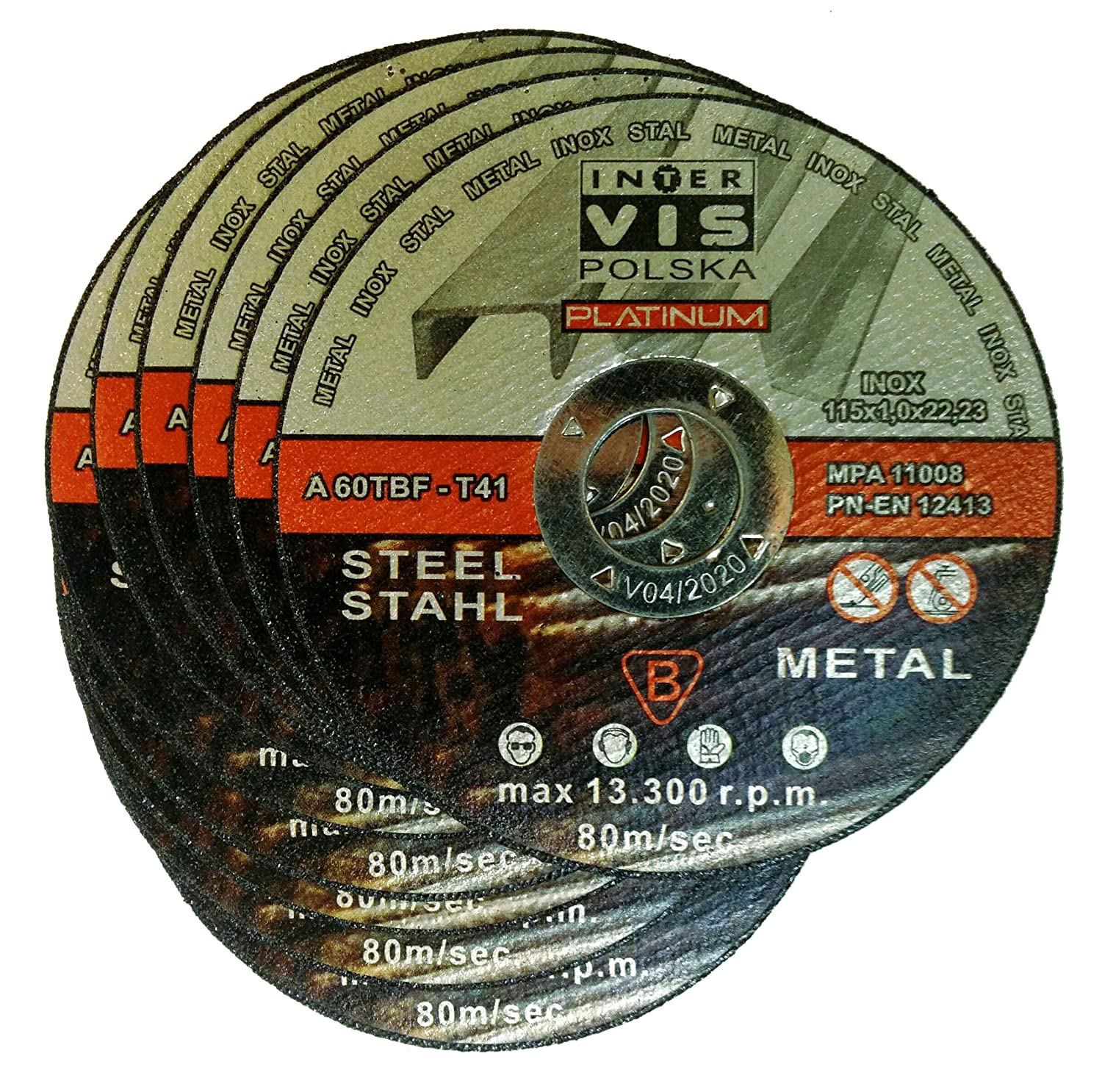 25  pieza Disco de corte para acero 115  x 1, 0  mm T41  Inter Vis Platinum 0 mm T41 Inter Vis Platinum