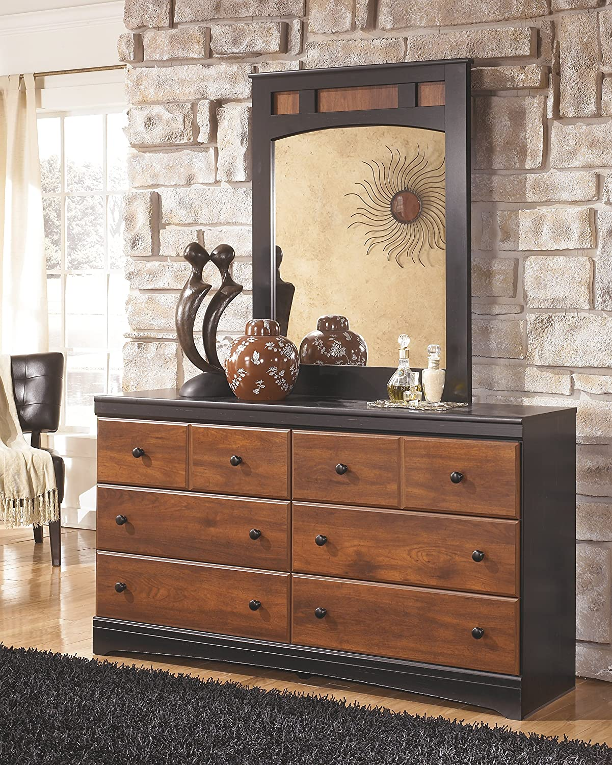 dark in paneled brown and furniture two images dressers piece mirror ash with dresser bedroom traditional