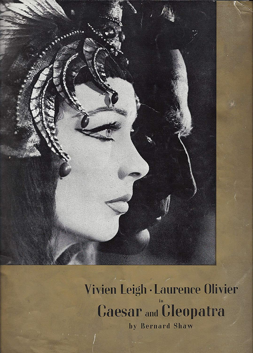 Vivien Leigh'CAESAR and CLEOPATRA' Laurence Olivier/Bernard Shaw 1951 Souvenir Program