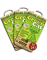 6x12 =72 Liter GreenCat ÖKO-PLUS NATURSTREU GREEN CAT`S KATZENSTREU - BEST STREU CornCat - kostenloser Versand innerhalb Deutschlands (außer Inseln)