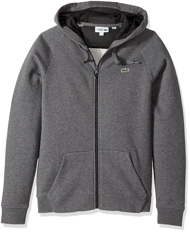 Lacoste Mens Tennis Brushed Fleece Full Zip Hoodie Sweatshirt