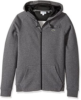 8aa3e922297f3c Lacoste Men s Tennis Brushed Fleece Full Zip Hoodie Sweatshirt at ...
