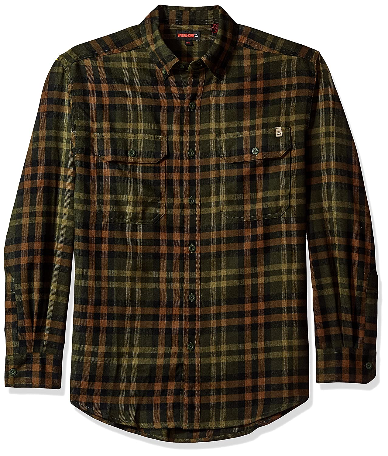 Wolverine SHIRT メンズ B0711628DR L|Hunter Plaid Hunter Plaid L