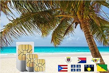 Karibik Karte Deutsch.Karibik Inkl Martinique Puerto Rico Saint Martin 3gb Prepaid Daten Sim Karte Für 30 Tage