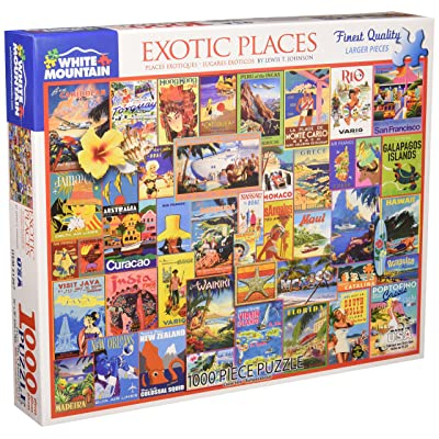 White Mountain Puzzles Exotic Places - 1000 Piece Jigsaw Puzzle: Toys & Games