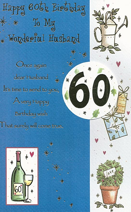 Happy 60th Birthday To My Wonderful Husband Amazonde Kuche Haushalt