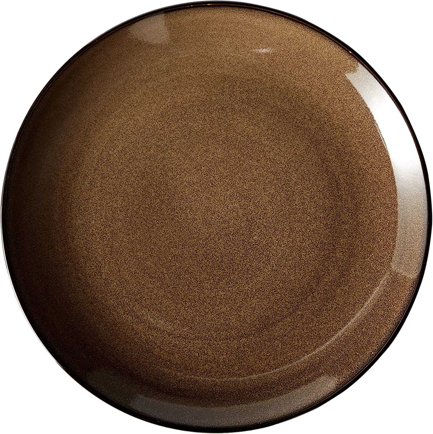 "Oneida Foodservice L6753059163 Rustic Chestnut Round Coupe Plate, 12.25"", Set of 12"