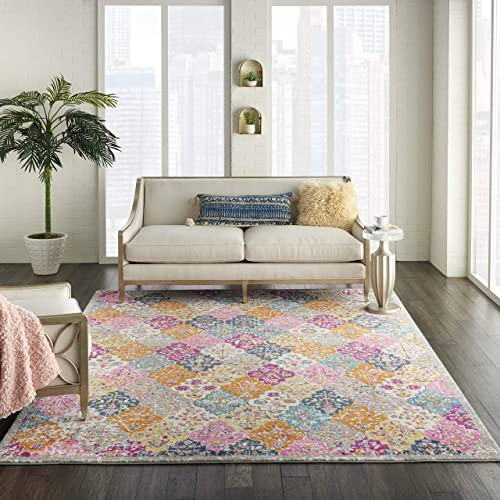 Nourison Passion Multicolor Bohemian Colorful, Farmhouse Area Rug 8 X10 , 8 X 10 ,