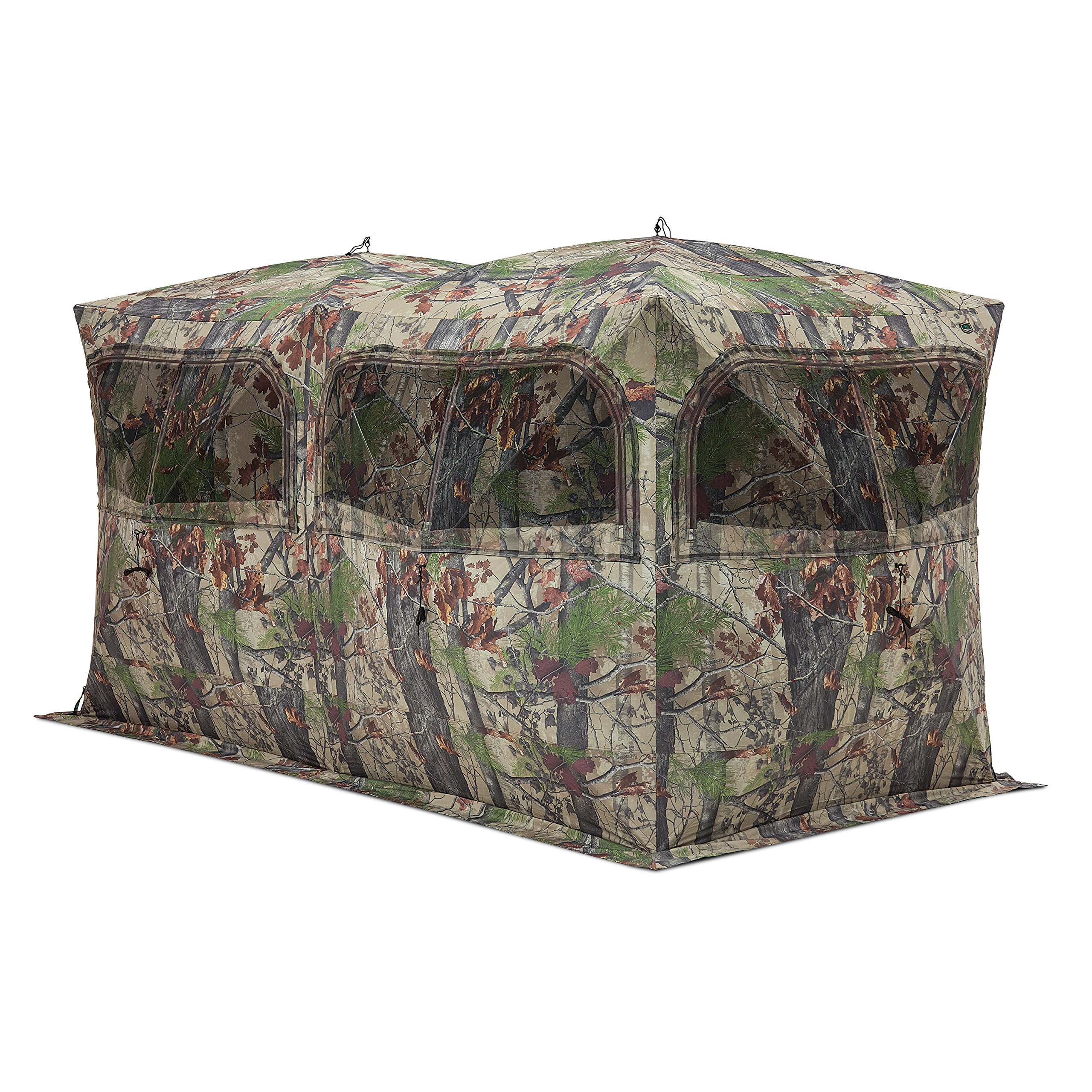 Barronett Beast Ground Hunting Blind, 6 Person Pop Up Portable, Backwoods Camo