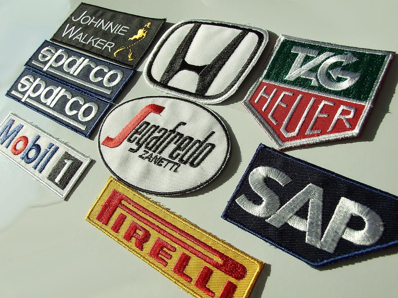F1 2015 Motorsport Mc Laren//patrocinatori Iron-On Patch ricamato Set 9 toppe