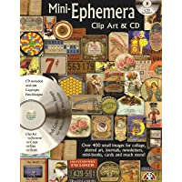 Mini-Ephemera Clip Art & CD: Over 400 Small Images for Collage, Altered Art, Journals...