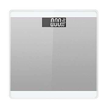 LUOYIMAN Body Weight Scale Digital Electronic Bathroom Scale High Accuracy  180kg/396lb (Silver)