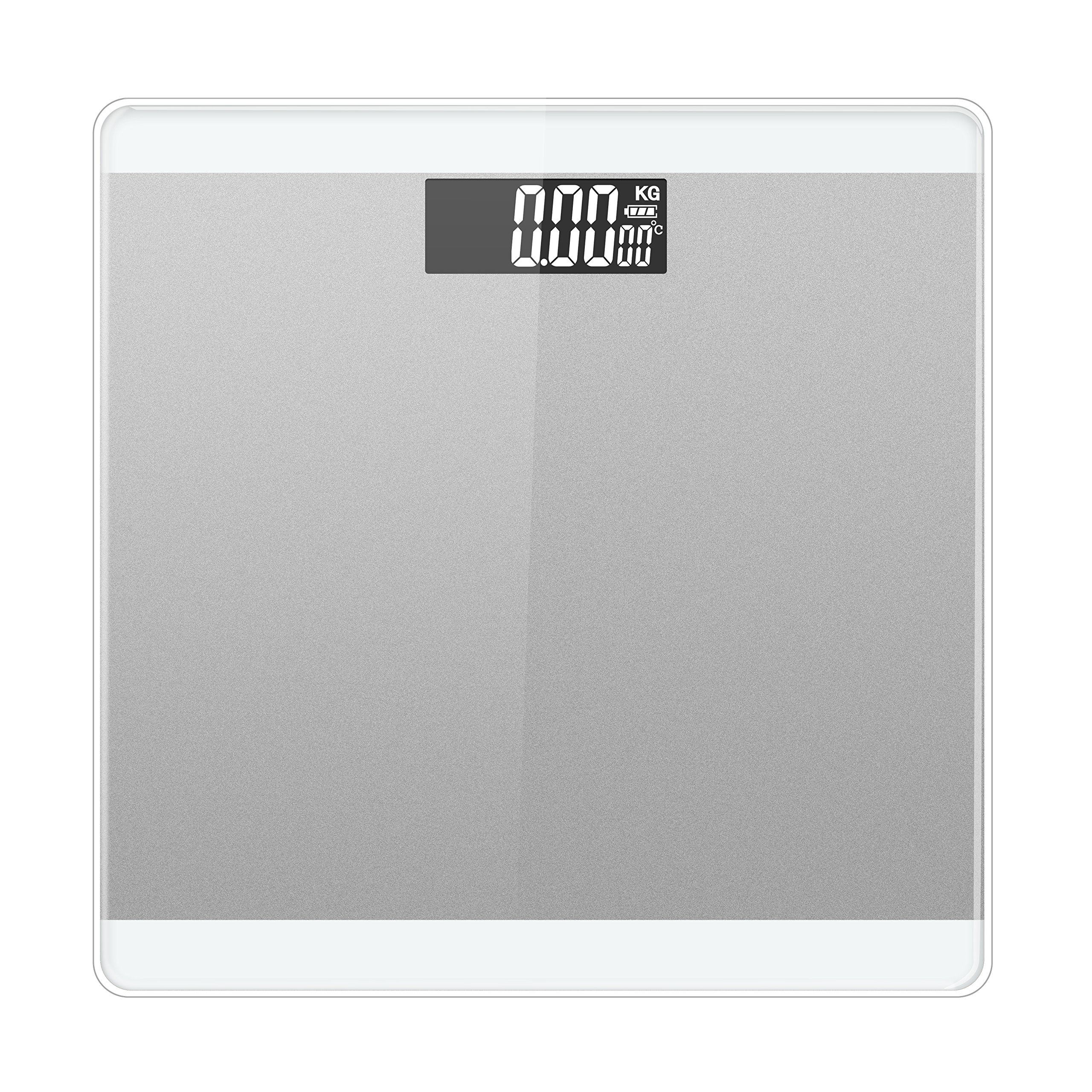 LUOYIMAN Body Weight Scale Digital High Accuracy 180kg/396lb (Silver)