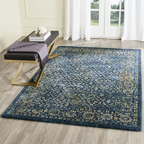 Safavieh Evoke Collection EVK511A Vintage Navy and Gold Area Rug 4 x 6