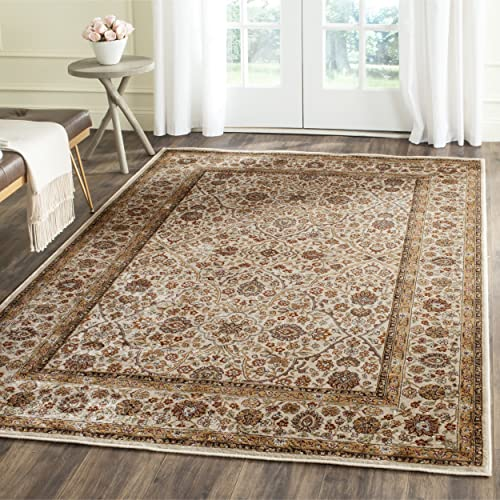 Safavieh Persian Garden Collection PEG606J Traditional Light Grey and Blue Viscose Area Rug 5'1″ x 7'7″