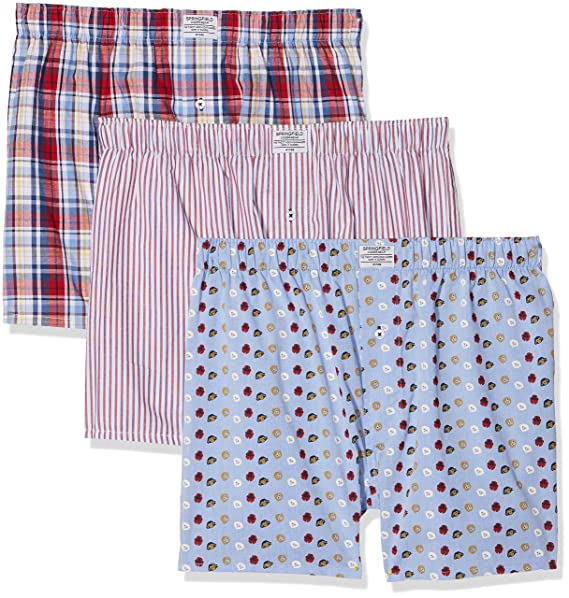 Springfield 1163426 Pack 3 Boxers Monos, Hombre, Azul (Gama azules), X