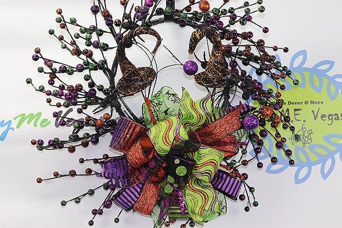 wicked halloween wreath witch door decor spider halloween decorations handmade halloween