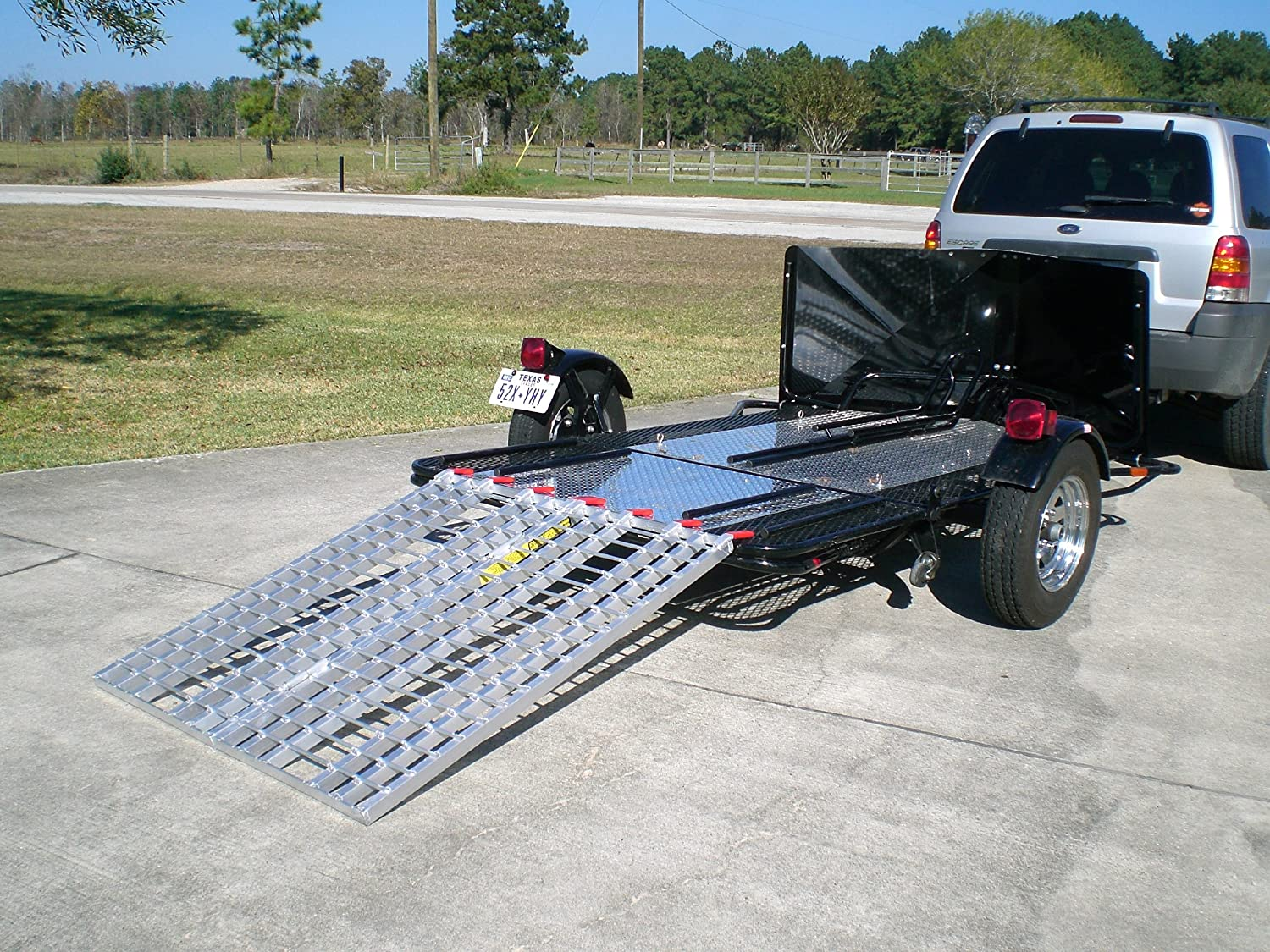 USA Motorcycles on to Trailers Aluminum Ramp 7 ft 740 MCDR Ramp