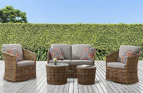 M d Furniture LEXI5PCSW-GRY Lexi 5 Piece Set