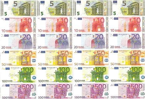 Spielgeld 120 Verschiedene Euro Scheine In 5 10 20 50 100 500 Von Dekospass Rechnen Lernen Kaufmannsladen Spielen Deko Amazon De Kuche Haushalt