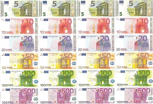 Spielgeld 120 Verschiedene Euro Scheine In 5 10 20 50 100